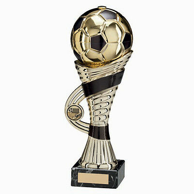 Football Trophies Gold & Black Football Ball Cup Award 3 Sizes FREE Engraving
