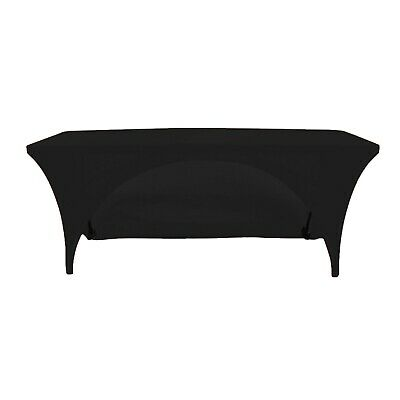 6ft Openback Black Spandex Buffet Table Covers Wedding Event Party
