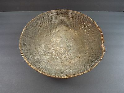 Antique AFRICAN COOKING BASKET TRAY Hand Made Very Old!