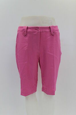 New With Tags Greg Norman Womens Solid Fancy Button Short In Pink