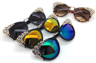 Wholesale Lots 12 Pairs Fashion Cat Eyes Woman Sunglasses With Rhinestones