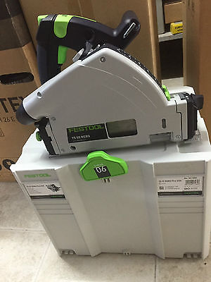 Festool TS55 REBQ-Plus-FS 1200W 160mm Plunge Cut Circular Saw with Guide Rail
