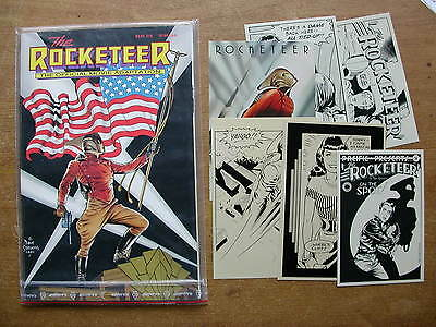 Rocketeer comic + 6x post cards
