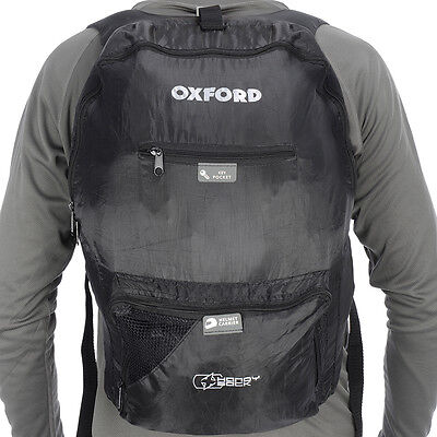 Oxford X Handy Sack Lifetime Luggage Motorcycle Motorbike Back Pack | Black