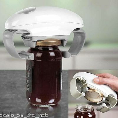 Pifco 1 Touch Hands Free Cordless Automatic Jar Opener Battery Operated Electric