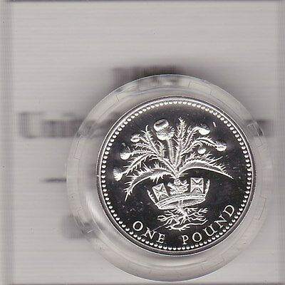 1989 Boxed Standard Silver Proof £1 Scotland With Certificate