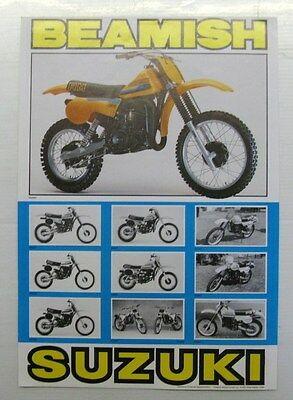 "SUZUKI BEAMISH ""T"" SERIES Motorcycle Specification Sheet 1980"