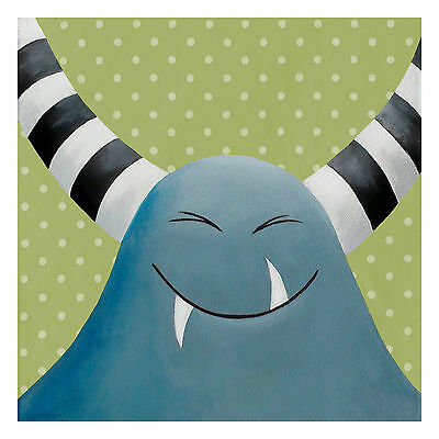 Kids Nursery Wall Decor Kids Bedroom Poster Print Monster Print Art Prints 8x8""