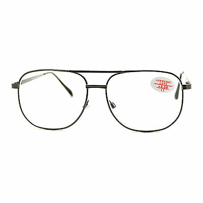 Clear Lens Glasses With Bifocal Reading Lens Vintage Square Spring Hinge