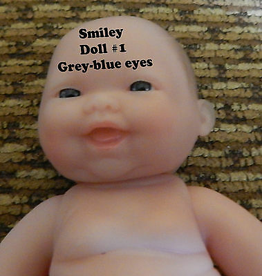 """5"""" Inch Baby Doll Berenguer Blue EYES Smiley Face Lot of Love Super Hot Item"""