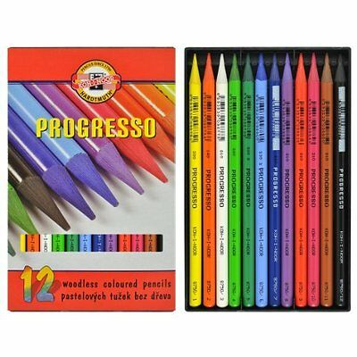Koh-I-Noor Progresso Woodless Coloured Pencils - Set12