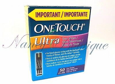 CLEARANCE One Touch Ultra Diabetic Glucose Test Strips 50 New Blue Exp 04/2018