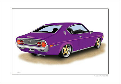 Mazda Rx4 Coupe Re12 Re13 Rotary   Limited Edition Car Print Automotive Artwork
