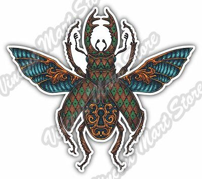 ebn596 Scarab Beetle Insect Vinyl Decal Sticker Multiple Patterns /& Sizes
