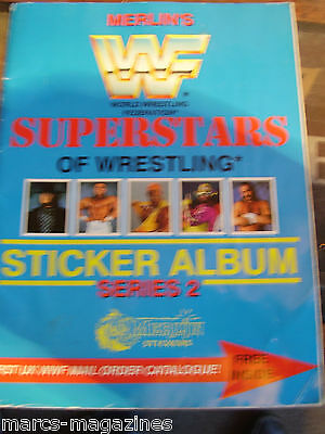 Rare Merlin Wwf Wrestling Superstars Sticker Album Series 2 Unused Old Name