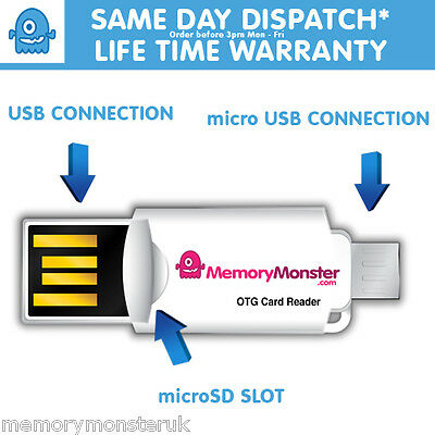 Micro USB 3.0 OTG Adapter + Micro SD TF Card Reader For Samsung Galaxy S6/S5/S4