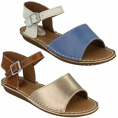 62c03282c Tustin Sinitta Ladies Clarks Leather Open Toe Buckle Strap Wide Summer  Sandals