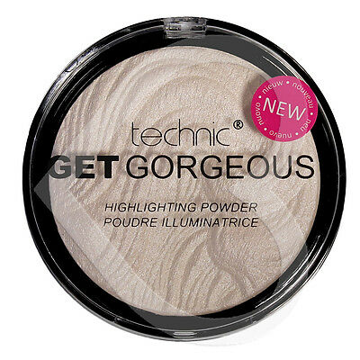 Technic Get Gorgeous Highlighting Powder 12g Face Highlighter Shimmer Compact