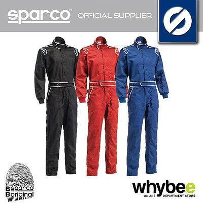 001052 Sparco 'one' Race Suit Fire Retardent One Layer Fabric Sfi Approved S-Xxl
