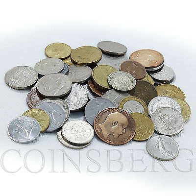 Lot of 1 lb world circulation coins of different years, set of USSR Europe Asian