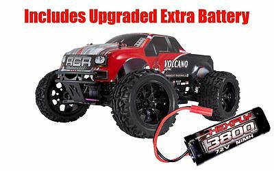 RedCat Racing Volcano EPX 4WD Monster Truck Red - w/ Extra 3800mAh Battery