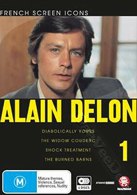 Alain Delon Collection 1 NEW PAL Classic 4-DVD Set