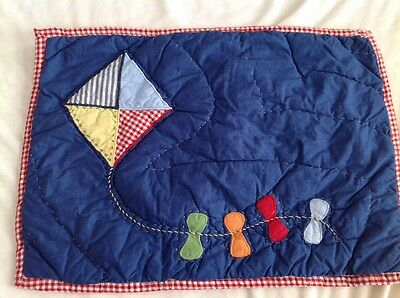 pottery barn kids baby boy quilted crib sham blue kite