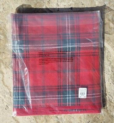 Williams Sonoma ~ Classic Tartan Plaid Table Runner, Red ~ Holiday Christmas