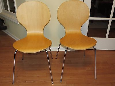 Vintage Pair Of Mid Century Modern Ant Chairs Bentwood Arne Jacobsen Inspired