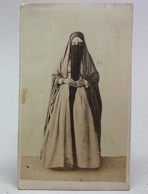 ANTIQUE 1870/80's PHOTO CDV Albumen CAIRO EGYPT/ WOMAN COSTUMES