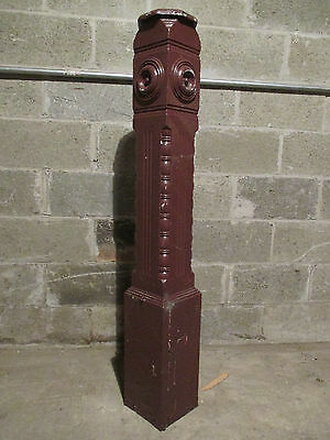 ~ Ornate Antique Walnut Newel Post ~ 51 Inches Tall ~ Architectural Salvage ~
