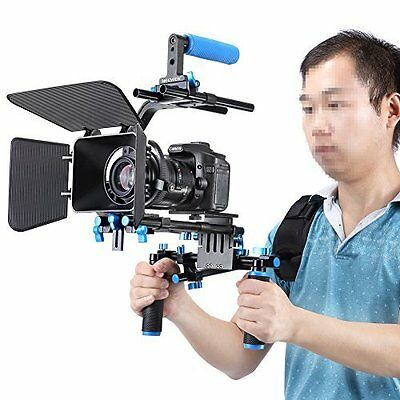 Professional DSLR Camera Video Rig Set Shoulder Mount Movie Kit Film Making NEW