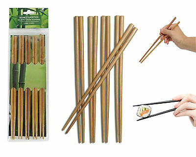 Bamboo Natural Wooden Chopstick Chinese Japanese Reusable Eating Kuaizi Hashi