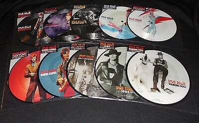 """David Bowie 40Th Anniversary Set Of 10 Picture Disc 7"""" Vinyl New Very Rare Oop"""