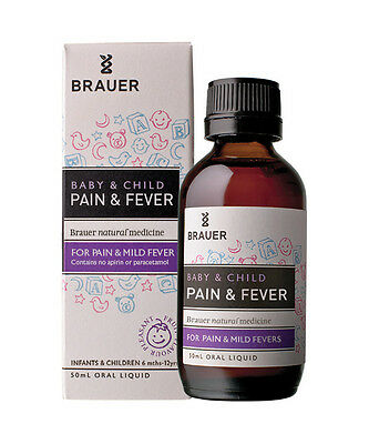 Brauer Baby And Child Pain & Fever 50Ml
