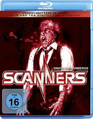 Scanners NEW Classic Blu-Ray Disc David Cronenberg Jennifer O'Neill Stephen Lack