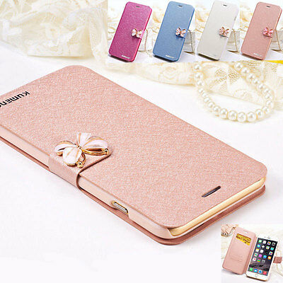 Flip Case Cover Handy Tasche Schutz Hülle Etui f Apple iPhone 7 Plus 6 Galaxy