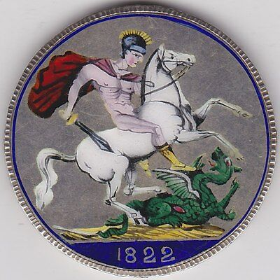1822 George Iiii Crown Enamelled With Seven Colours