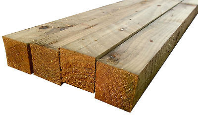 Pressure Treated Timber - 12ft (3.6M) x 2 x 2 Inch (50mm) Timber Fence Rails