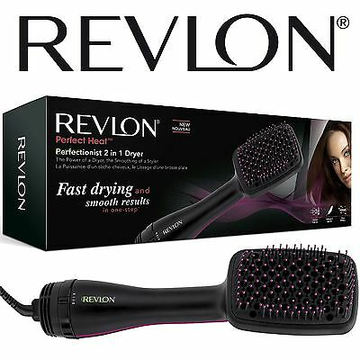 Womens Revlon Perfectionist 2-in-1 Ionising Paddle Brush Hair Dryer RVHA6475UK