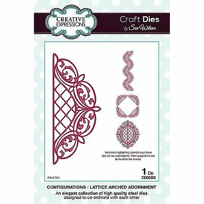 Sue Wilson Configurations Lattice Arched Adornment Die Set Ced6302