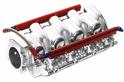 Chevy Qualifier LS2  Polished Aluminum 96MM Intake w/ Fuel Rails GM