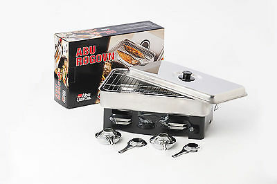 Abu Garcia 2 Burner Stainless Steel Smoker - Smoked Fish