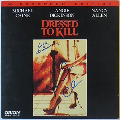 Angie Dickinson/Michael Caine Signed Dressed To Kill Auto Laser Disc PSA/DNA
