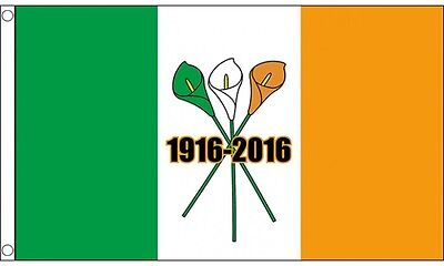 5ft x 3ft (150 x 90cm) Easter Rising 1916-2016 Ireland Irish Tricolour Flag