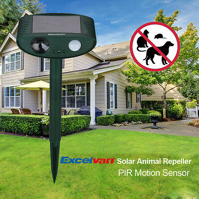 Solar Animal Chaser Pest Repeller Ultrasonic Outdoor Dog Cat Bird Control Scarer