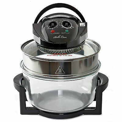 Large 17 Litre Black Premium Convection Halogen Oven Cooker  FREE £60 extra