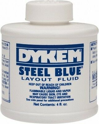DYKEM 80300 STEEL BLUE LAYOUT FLUID BRUSH TOP  (4oz)