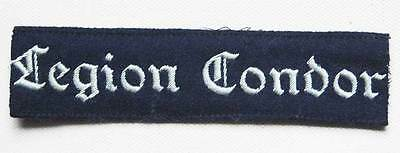 German WW2 Luftwaffe Legion Condor Cuff Title – KG 53, badge shield medal
