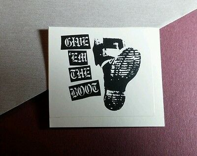 Give Em The Boot 'em B&w Name Small Music Sticker
